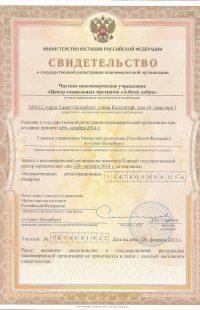 св-во о регистрации НКО 17